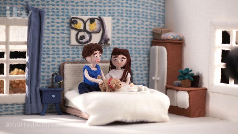 ITV's Knitted Ad Break Shot in Studio 1